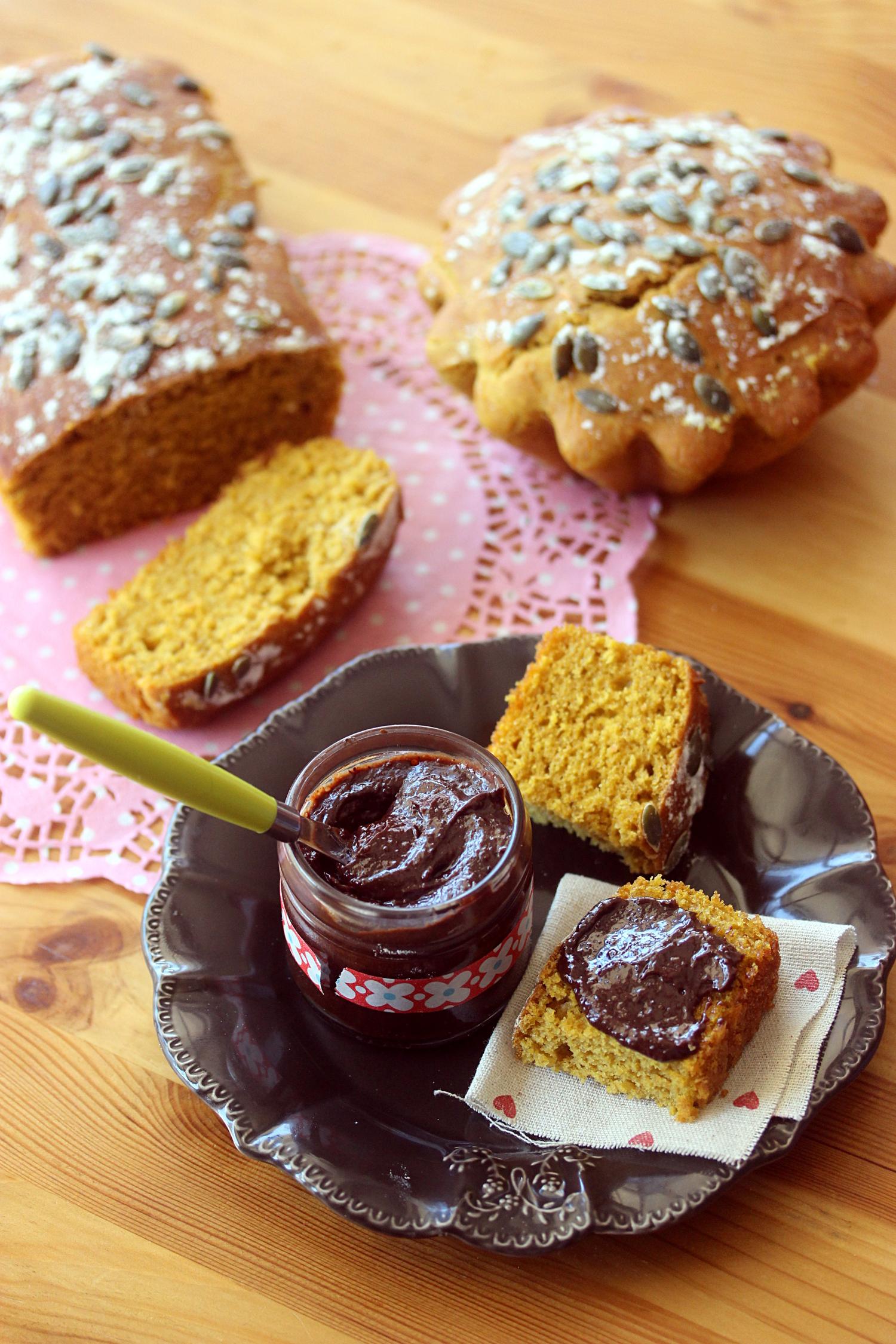 recette facile du pain au potimarron et p te tartiner au chocolat. Black Bedroom Furniture Sets. Home Design Ideas