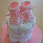 DIY facile de Diaper Cake (gâteau de couches)