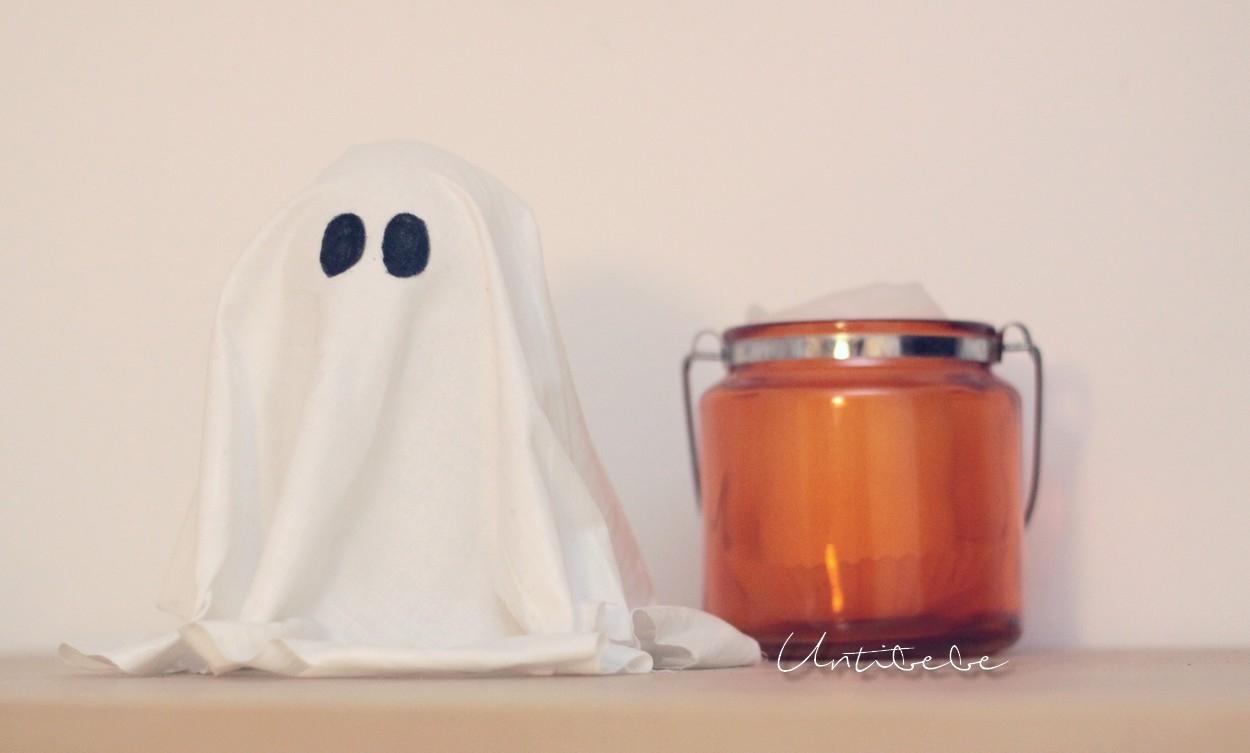 Le ti fant me d 39 halloween diy facile et rapide - Fabriquer un fantome halloween ...