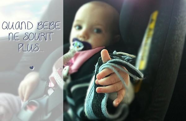 Quand bébé ne sourit plus...