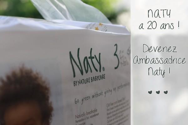 Naty a 20 ans ! Devenez ambassadrice Naty pour fêter ça !
