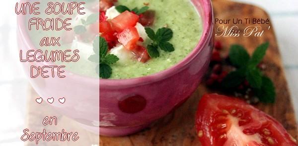 La soupe froide de courgette à la menthe et feta au cumin {RECETTE}