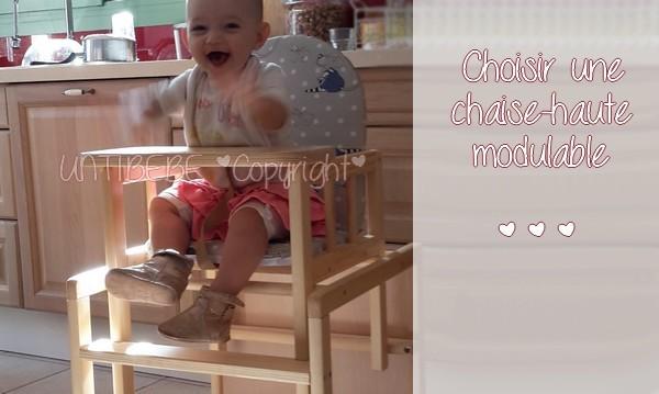 Choisir une chaise-haute modulable et évolutive : avantages et inconvénients {TEST & AVIS}