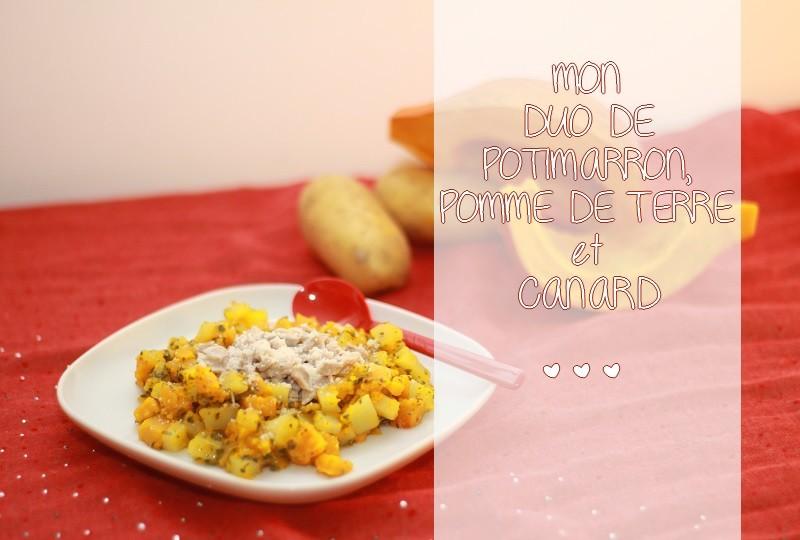 Ma recette de duo de potimarron, pomme de terre et canard sur le site Idées de Maman !