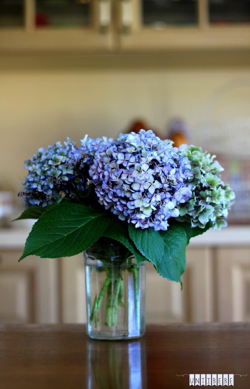 bouquet hortensias