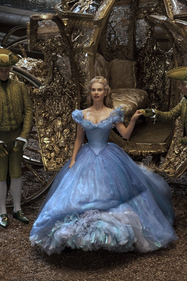 Lily James is Cinderella in Disney's live-action CINDERELLA, directed by Kenneth Branagh.