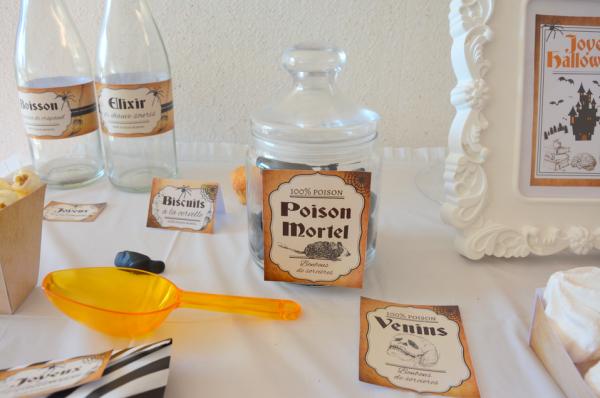 02 kit printable mybbshowershop halloween étiquettes sweet table marron noir