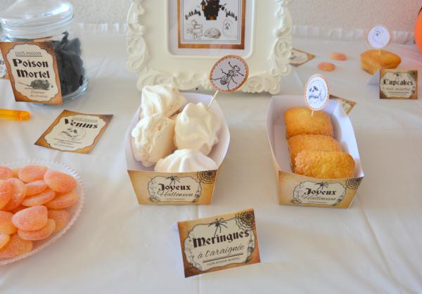 06 kit printable mybbshowershop halloween boîte à gâteaux marron noir