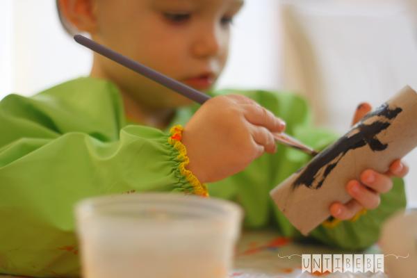 activite peinture enfant halloween blouse