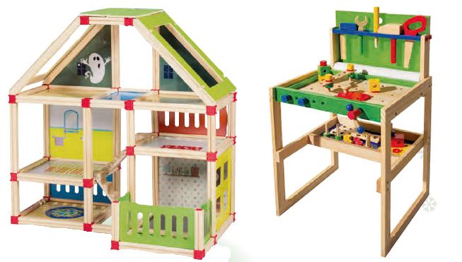 Des jouets en bois arrivent chez lidl pour no l mais for Maison de jardin jouet