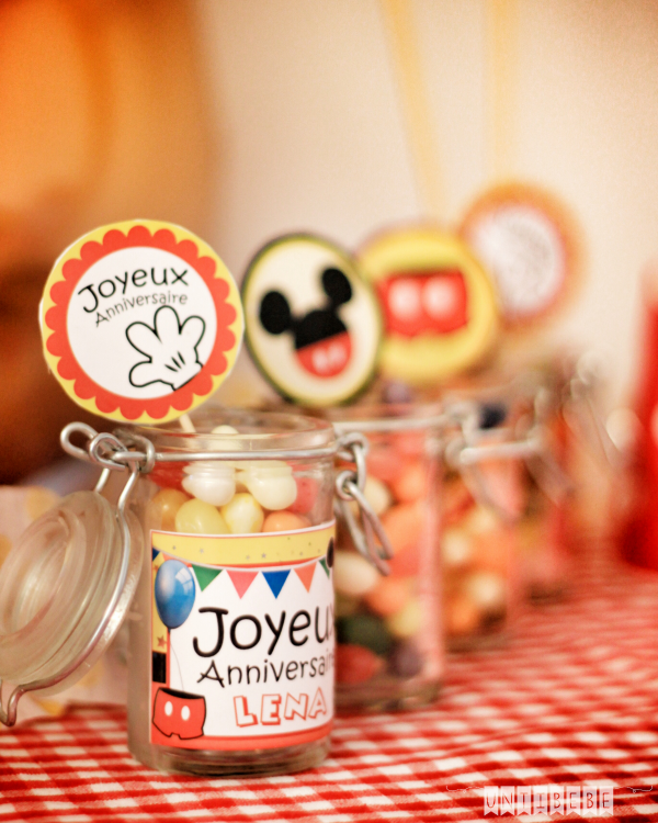 candy bar bonbons anniversaire mickey