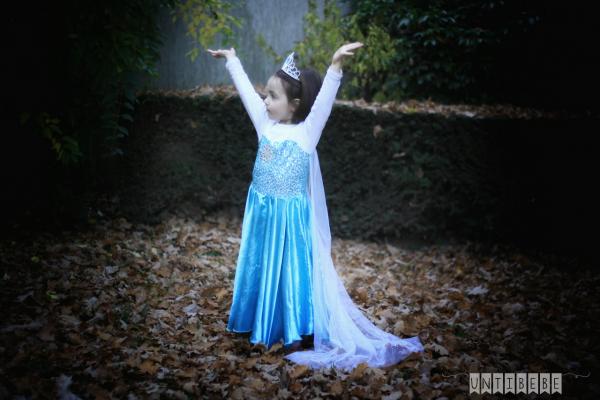 fille reine des neiges couronne costume
