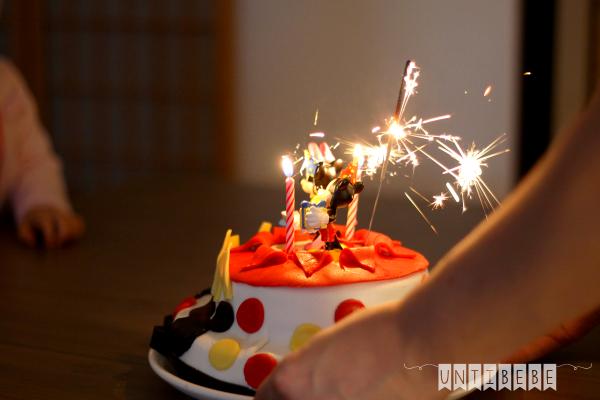 gateau mickey minnie anniversaire enfant cierge magique bougie eteincelles
