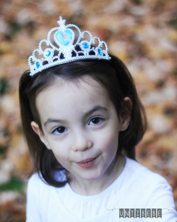 petite fille reine des neiges couronne costume