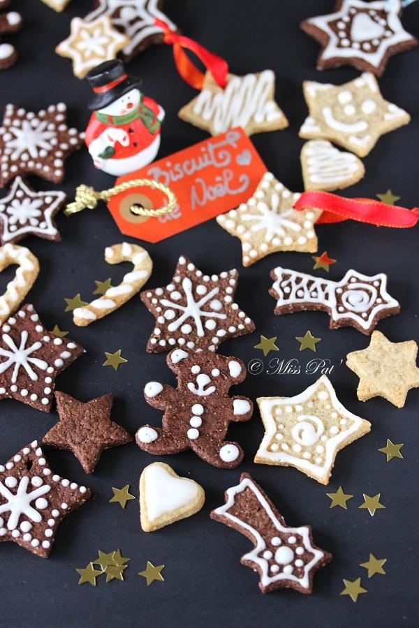 Biscuits de Noël cacao et vanille untibebe