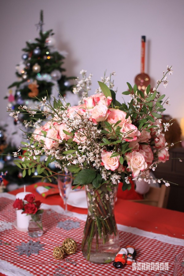 bouquet rose noel