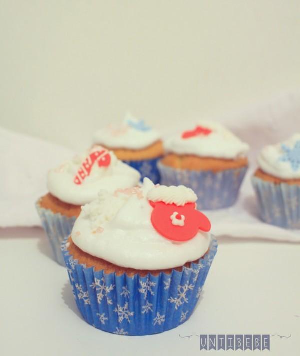 cupcake de noel decoration sucre mouffle