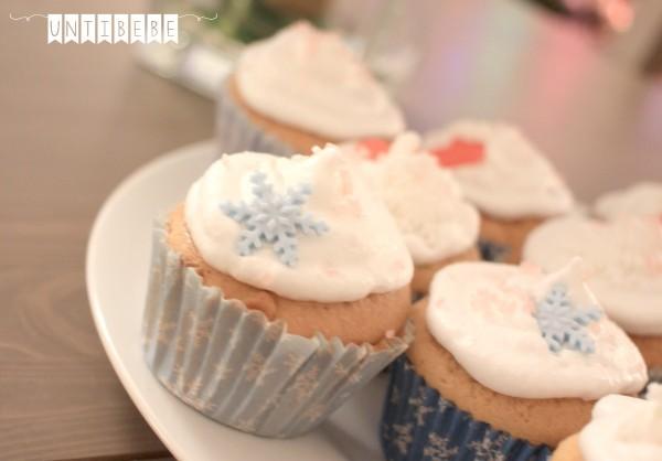 cupcake noel reine des neige flocon