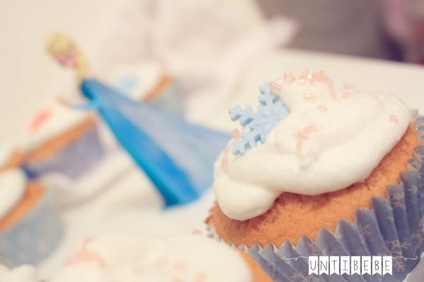 cupcake reine des neiges anniversaire gateau