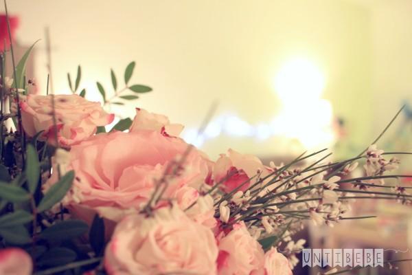 bouquet de fleur roses salon coocooning_