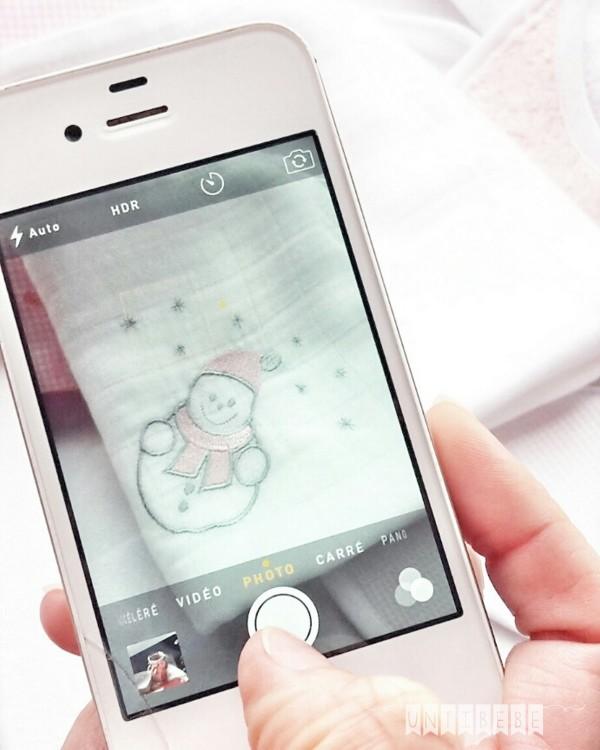 iphone 5 blanc photo bonhomme de neige