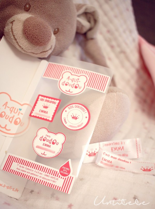 kit etiquettes a qui doudou