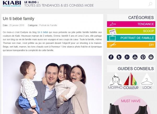 portrait de famille blogueur blog kiabi