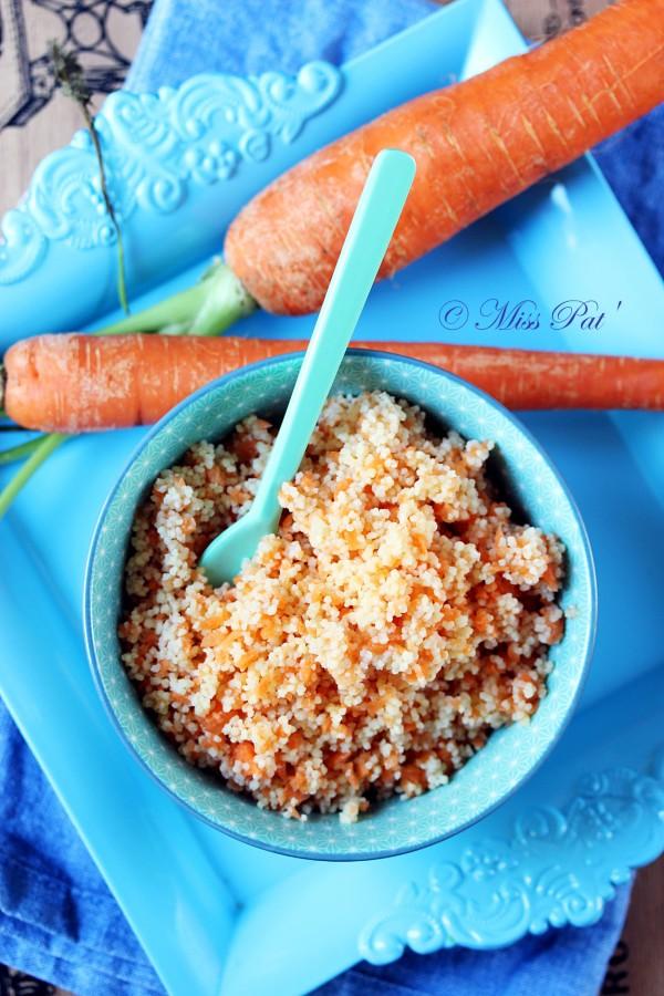 Taboulé coloré à la carotte