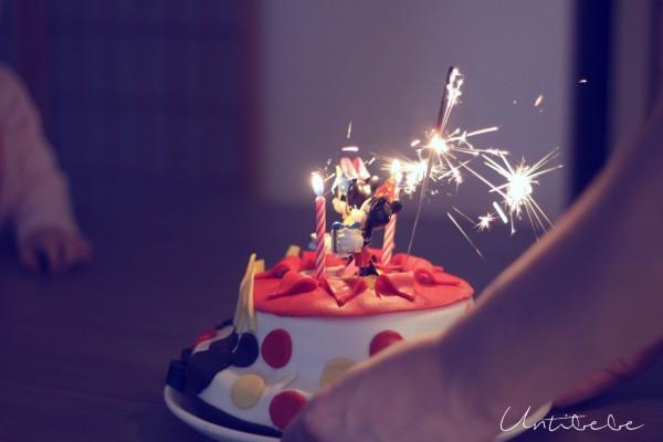 gateau anniversaire mickey minnie cirge magique