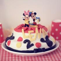 vignette gateau anniversaire mickey minnie diy recette simple facile