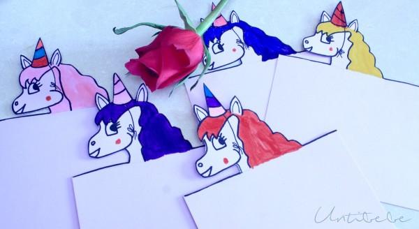 carte invitation de licorne anniversaire modele