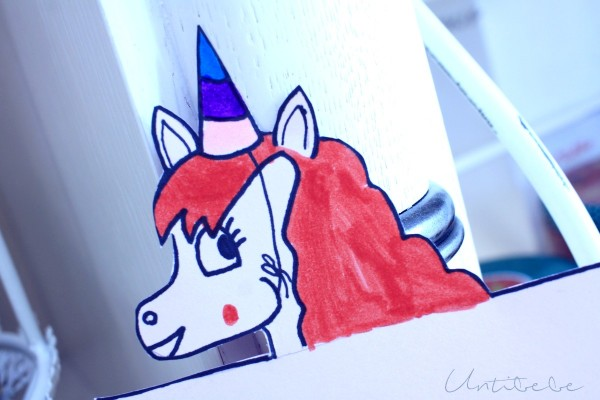 invitation licorne coloriee par enfant
