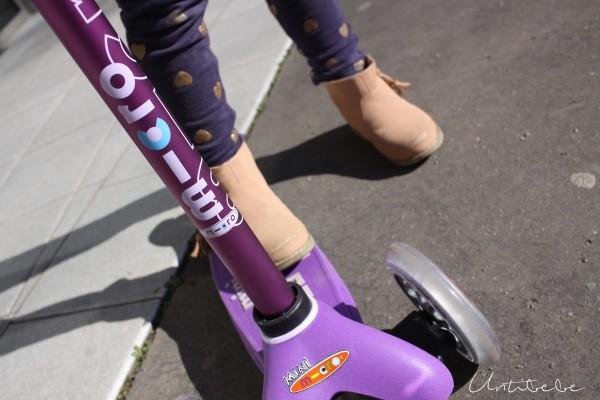 mini micro de luxe violet chromée