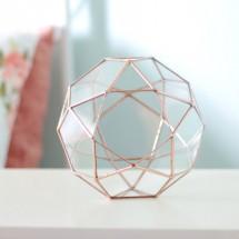 Terrarium en verre géométrique