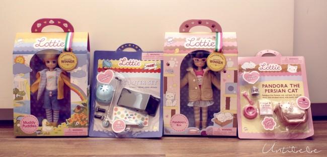 poupées lottie emballage