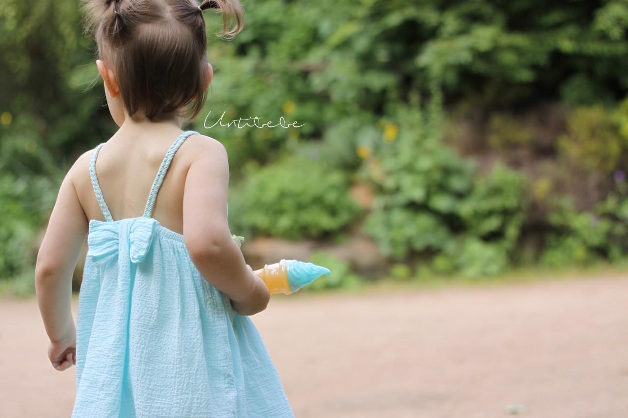 tia aina summer robe crepe enfant