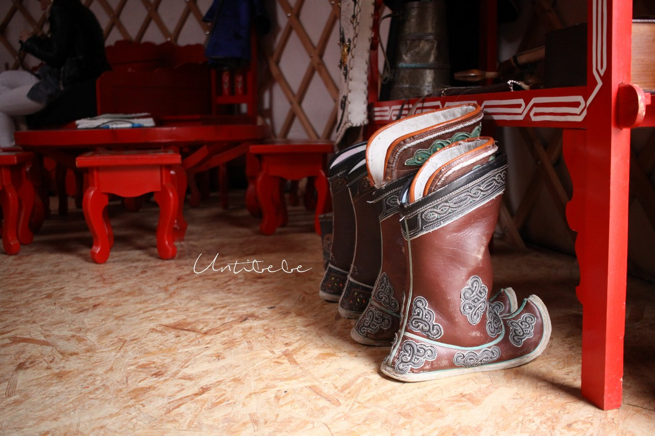 bottes chaussures mongole