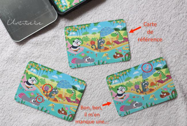 difference cartes jeu de voyage enfant
