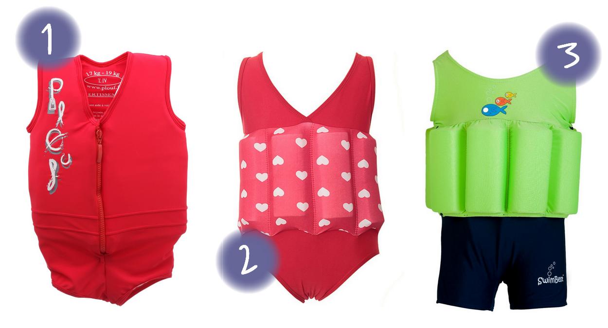maillots de bain enfant flottant