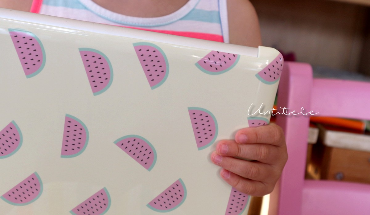coque ipad caseapp pasteque brillant