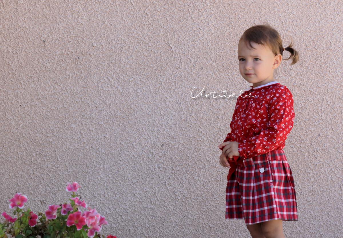 look enfant sergent major liberty rouge carreaux