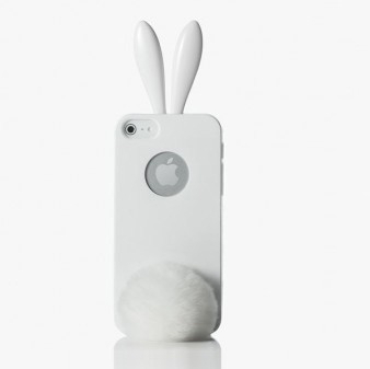 coque-iphone-lapin-pompon