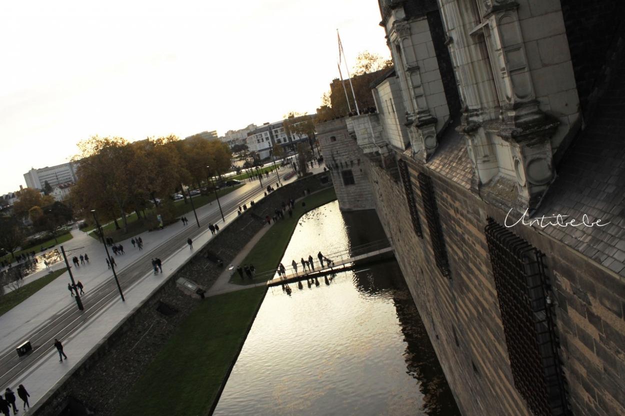 chateau ducs de bretagne coucher soleil