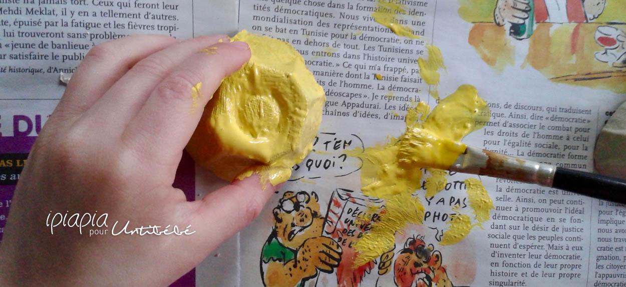 Poules et poussins à accrocher DIY Pâques