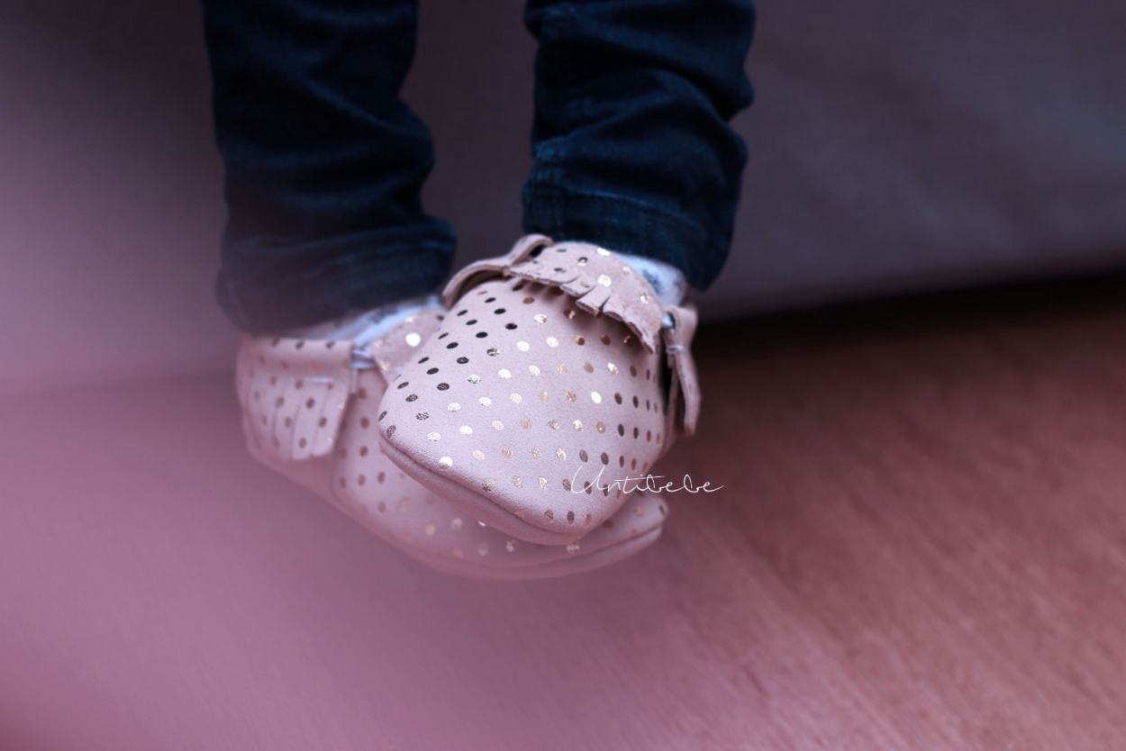 chaussons tichoups franges brillants