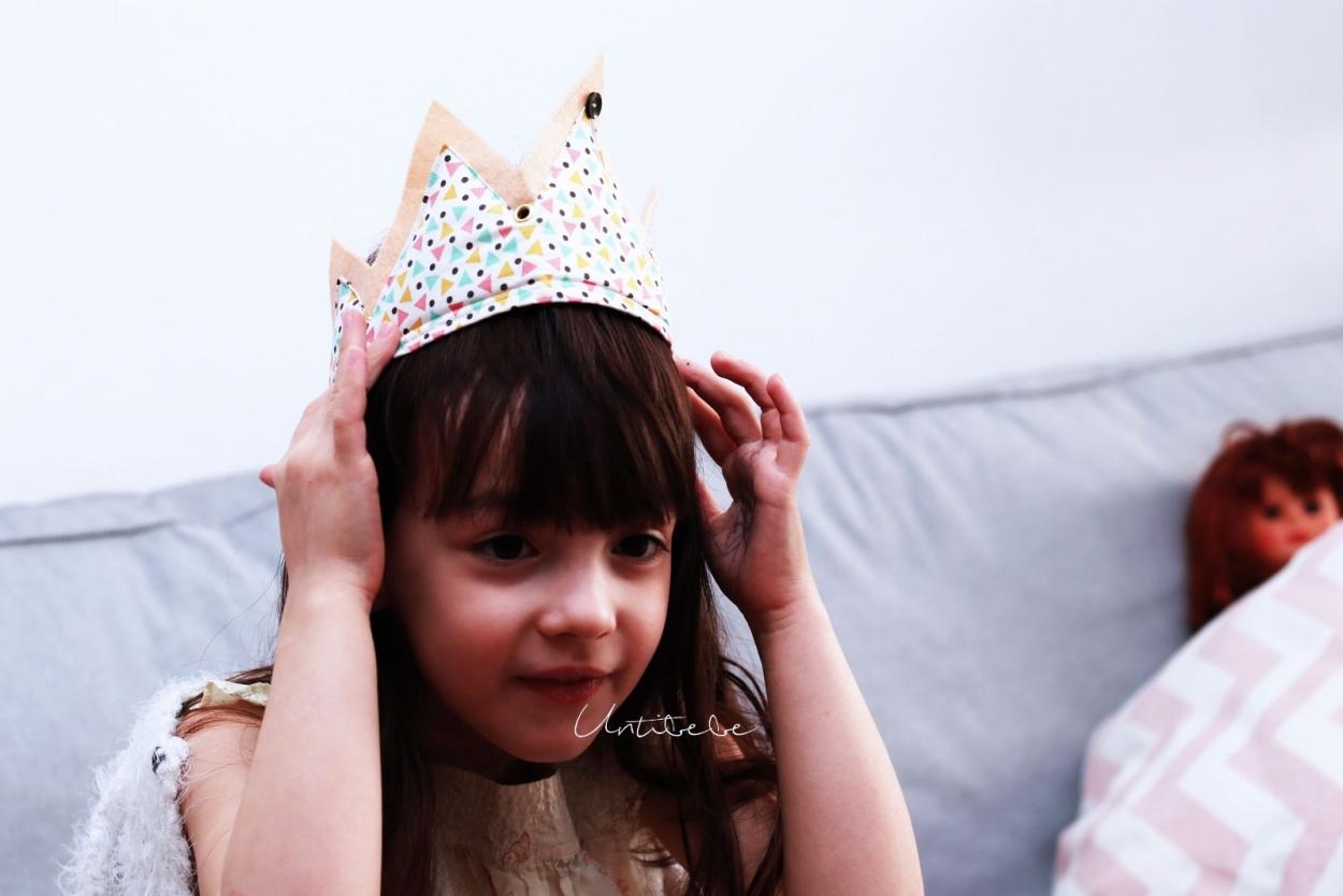 couronne enfant tissu doux reves