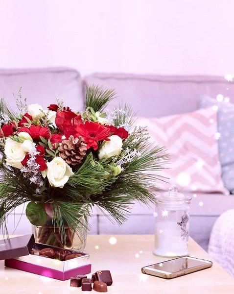 Bouquet de fleurs Noël