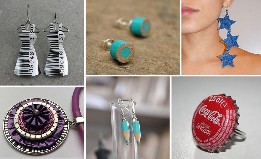 DIY bijoux en matériaux recyclés écolo
